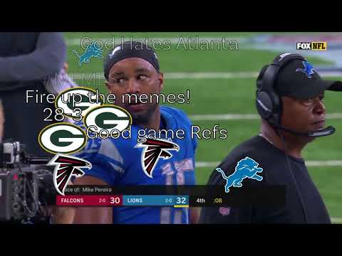 Lions Vs Falcons 2017 Runoff Rule Ending // With Reddit Reactions