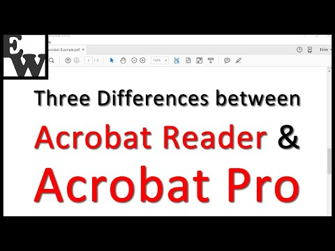 Three Differences Between Acrobat Reader And Acrobat Pro