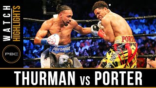 Thurman vs Porter HIGHLIGHTS: June 25, 2016 - PBC on CBS