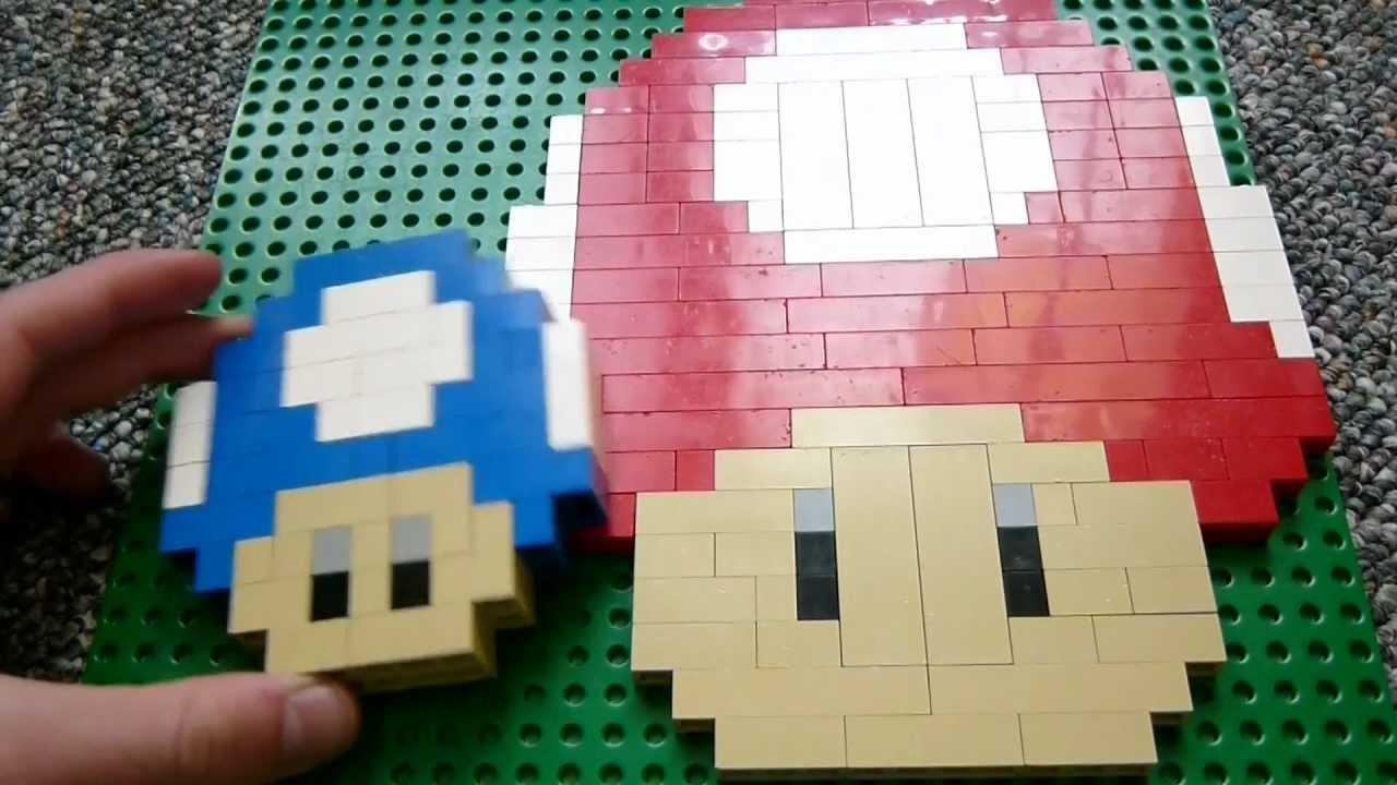 Easy Lego Creations >> Lego Mario Mini-Shroom - Creations Episode 4 - YouTube