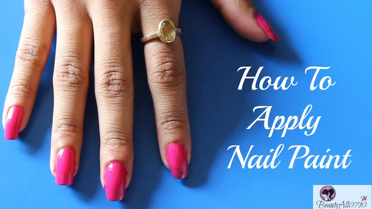 How To Apply Nail Polish Ft. Oriflame The ONE Long Wear Nail ...