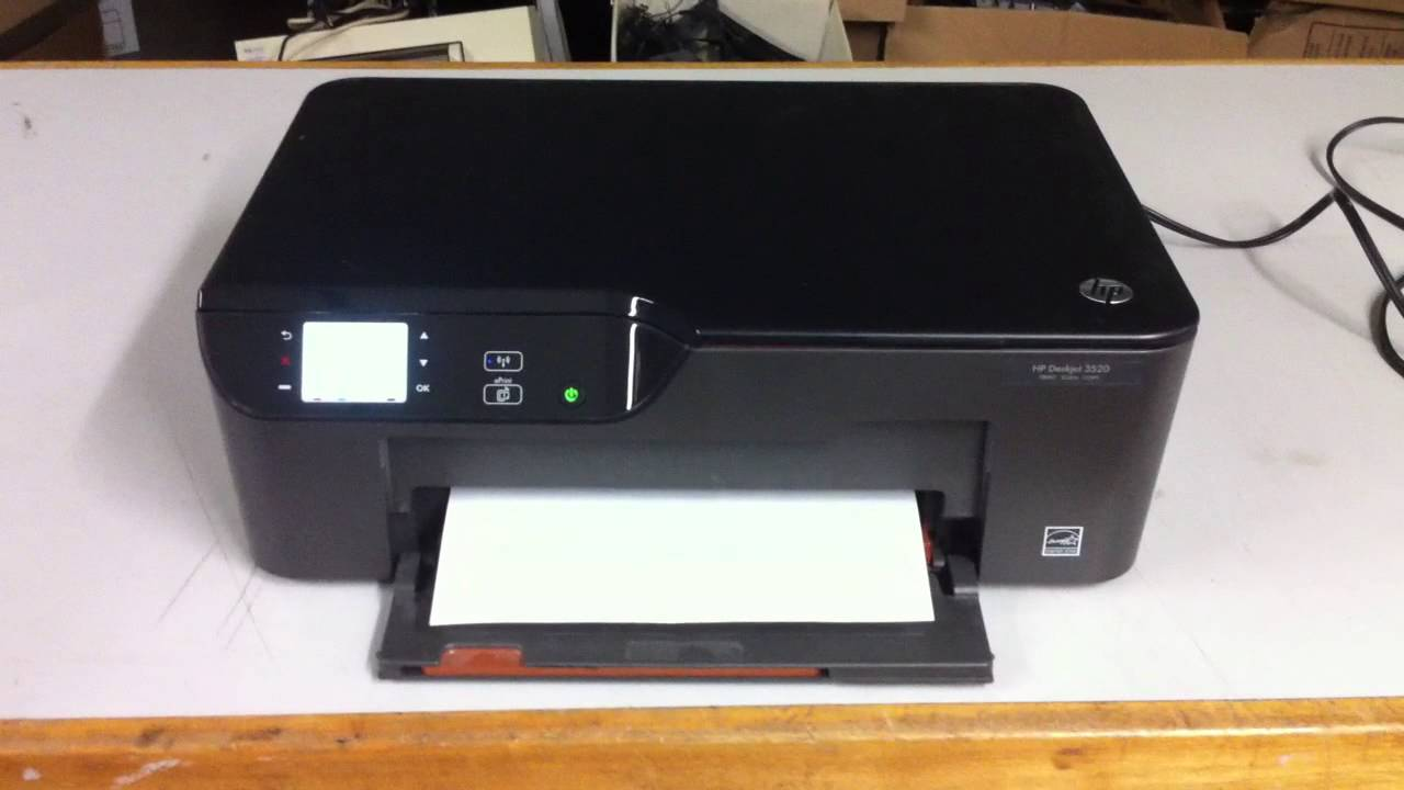 Hp Deskjet 3520 All In One Inkjet Printer Youtube