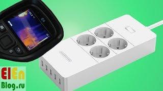 NTONPOWER  Удлинитель с 5 USB  портами 2.4A(, 2017-08-02T13:00:32.000Z)