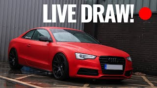 AND THE WINNER IS... Darkside Audi A5 Competition Live Draw!
