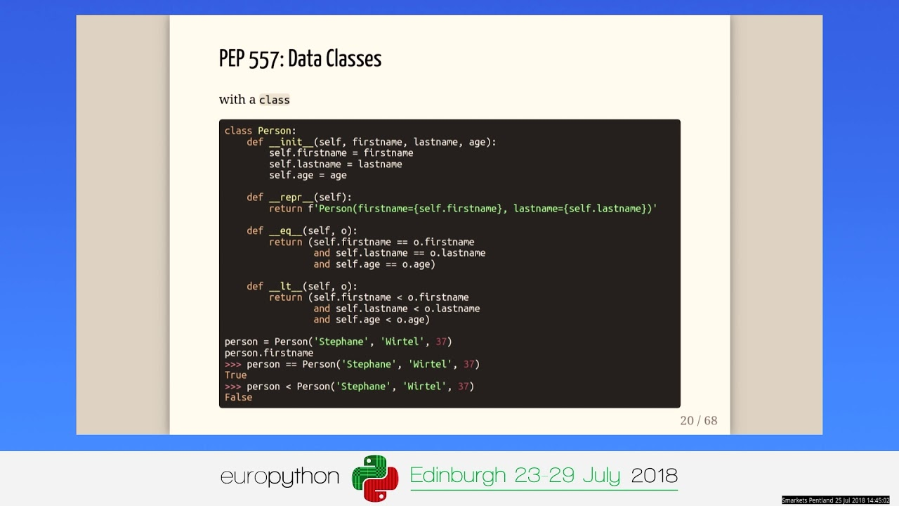 Image from Stephane Wirtel - What's new in Python 3 7