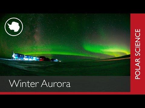 Winter Aurora over Halley Research Station
