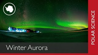 Aurora over British Antarctic Survey