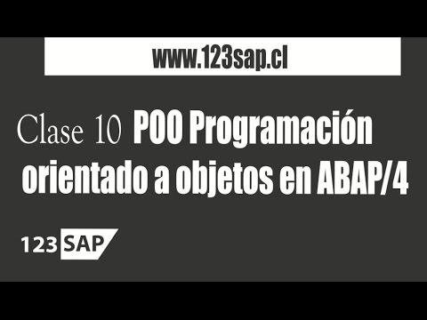2.10 Curso ABAP | Clase 10 Programación orientado a objetos en ABAP/4 - Consultor SAP  Español