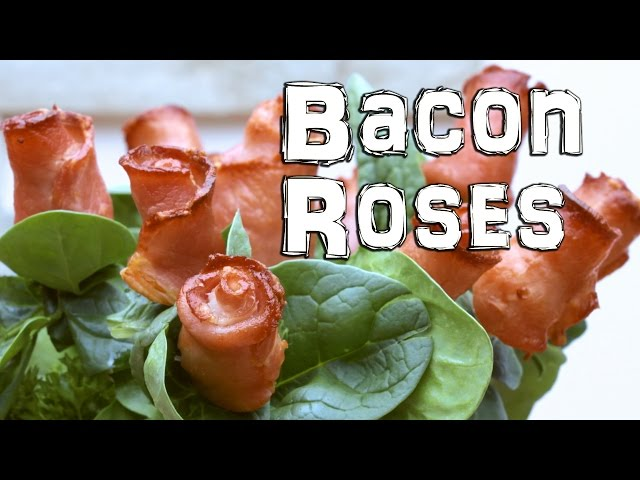 Edible Flowers – How to Make Bacon Roses