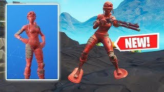 NEW RED TOY TROOPER SKIN Gameplay in Fortnite!