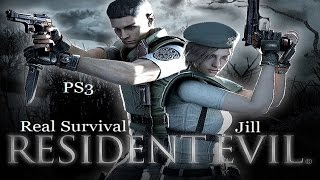 Resident Evil HD Remaster PS4/PS3 1080p Real Survival Jill Strategy Guide Longplay