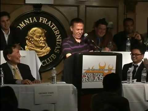 Gilbert Gottfried Roasts George Takei at the Friars Club   Excellent Video Quality