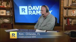 Credit card debt is over $80k