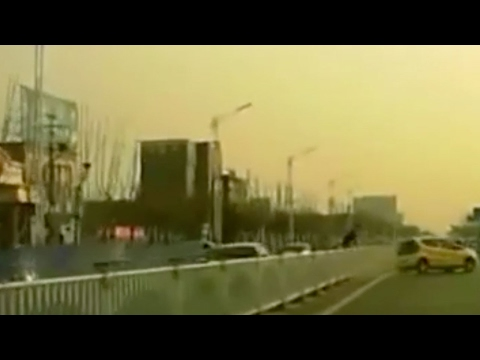 Chinese driver performs motorsport technique on the road