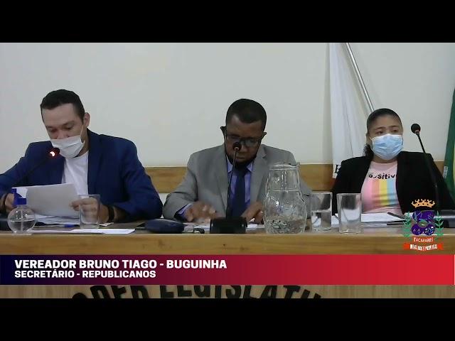 Câmara Municipal de Vereadores de Itacarambi MG Reunião realizada no dia 15/09/2021