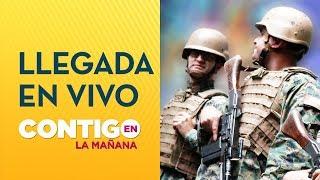 Así se vivió la llegada de militares a Plaza Italia en Chile - Contigo en La Mañana