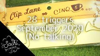 ASMR 28 triggers September 2020(No talking)
