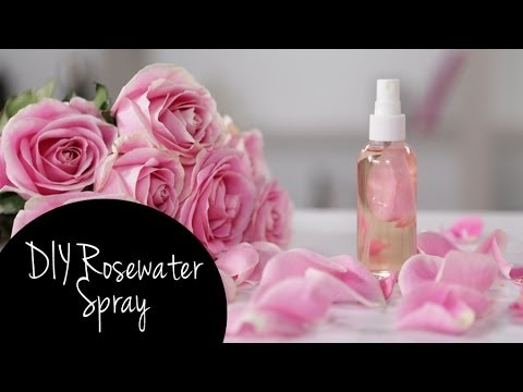 DIY Refreshing Makeup Setting Rosewater Spray | Tutorial