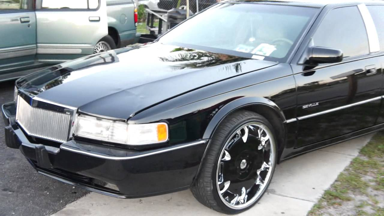 Cadillac Sts On Dem 22 Rims All Black Everythang