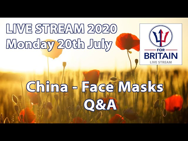 For Britain Live 20th July 2020