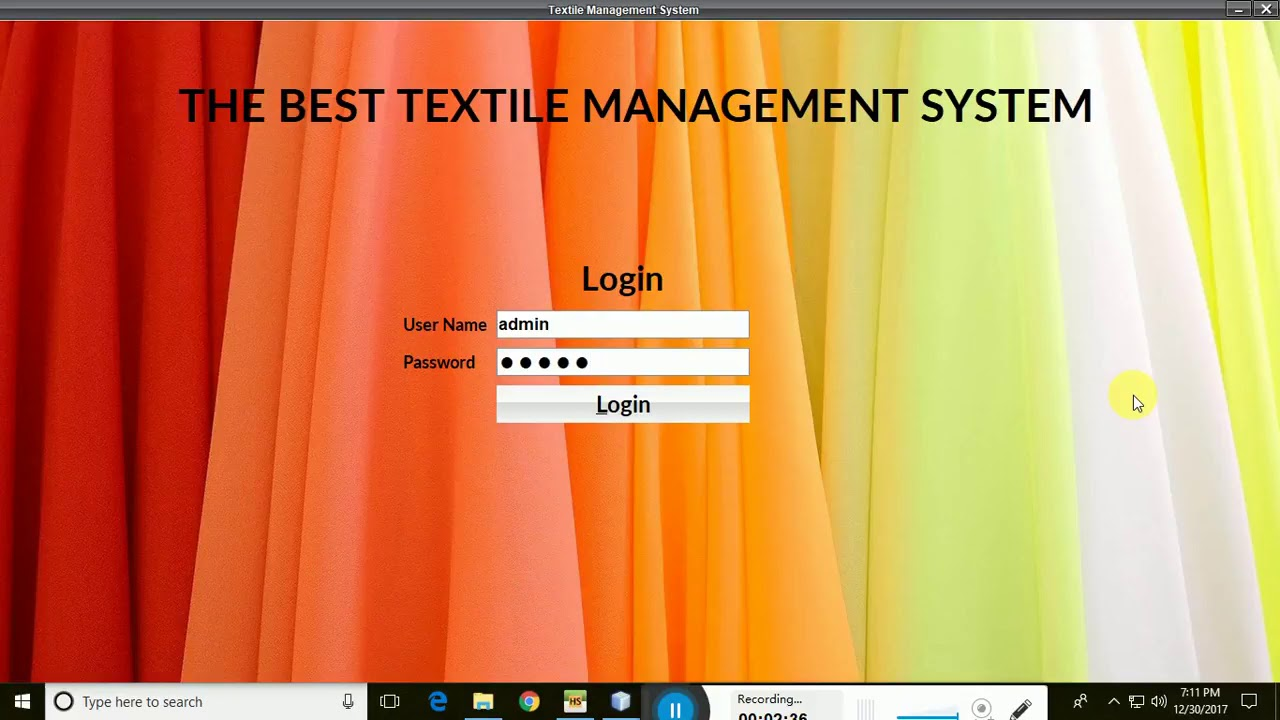 Textile Management System Source Code In Java - Lanessoft com