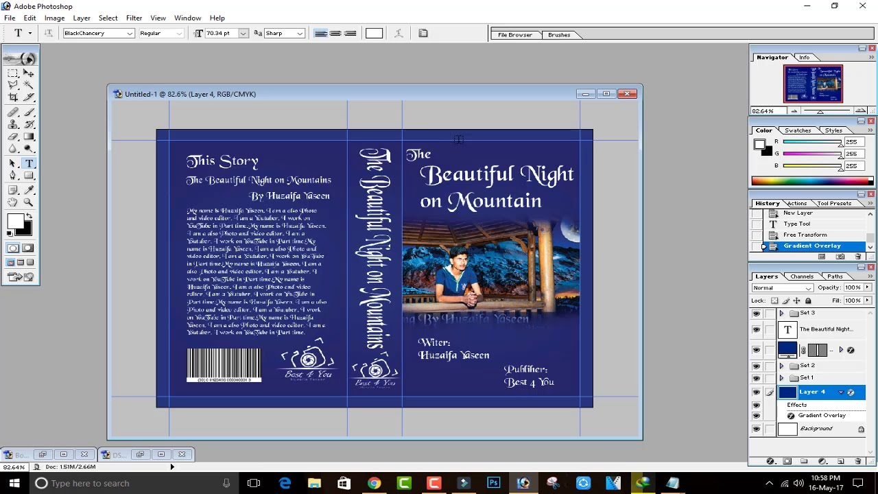 Book Cover Making Software Free : How to design make a book cover in photoshop