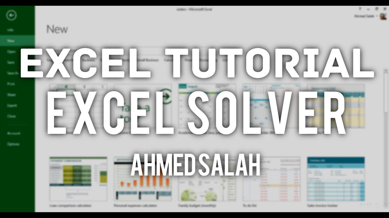 excel solver tutorial Using excel solver in optimization problems leslie chandrakantha john jay college of criminal justice of cuny mathematics and.
