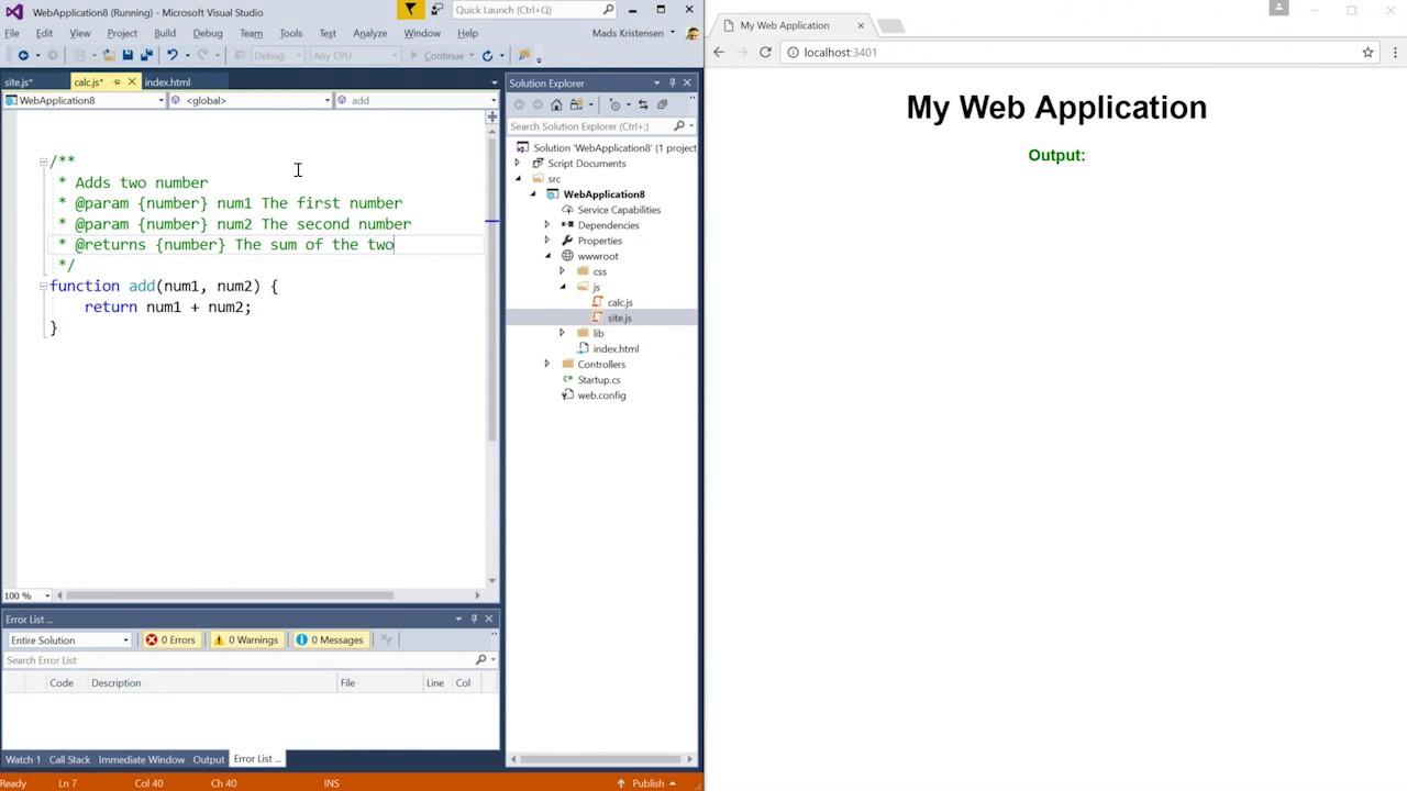 Web Development in Visual Studio 2017 - YouTube