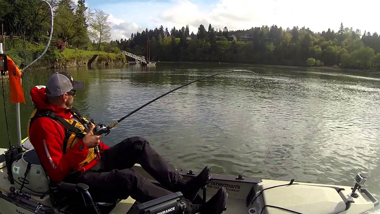 Kayak fishing for salmon in portland youtube for Youtube kayak fishing