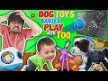 DOG TOYS vs TV! FUNnel Family Vlog