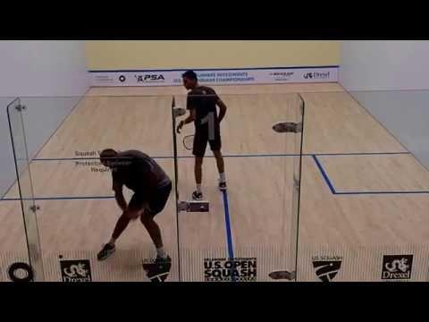 John White vs Ali Farag 3rd game (2015 US Squash Open, Philadelphia)