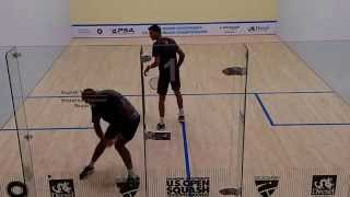 John White vs Ali Farag 3rd game (2015 US Squash Open, Philadelphia)