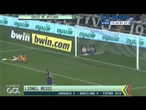 Goles de Lionel Messi arrastrando varios jugadores [Planeta Gol 01/06/15]