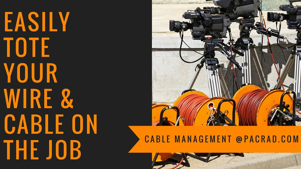 Cable Caddy - Cable and Wire Spool Rack, Reel Stand and Cart - YouTube