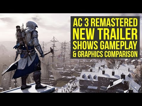 Assassin's Creed 3 Remastered Gameplay Trailer, Screenshots & Release Date (AC 3 remastered gameplay