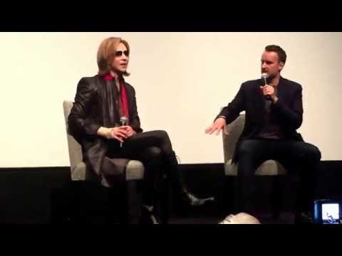 Yoshiki of X Japan, with Stephen Kijak, director of We Are X - Part 2