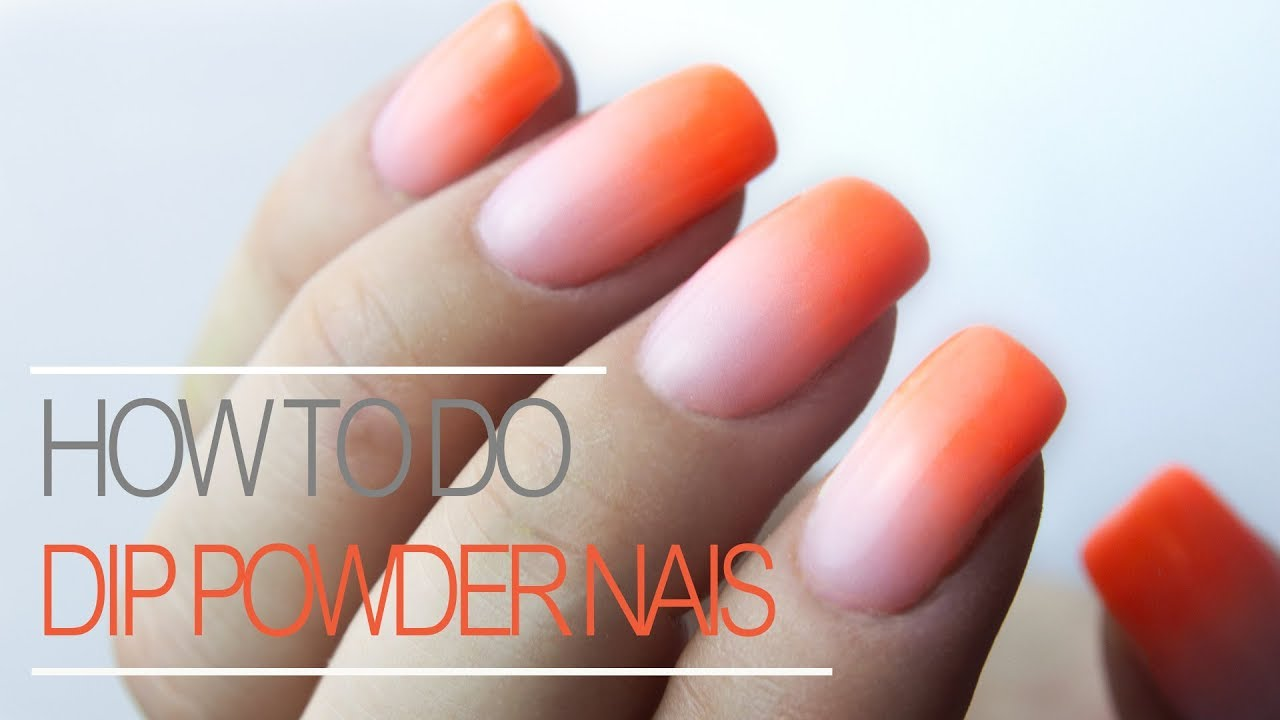 How To Do Ombre With Dip Powder Nail Tutorial Youtube