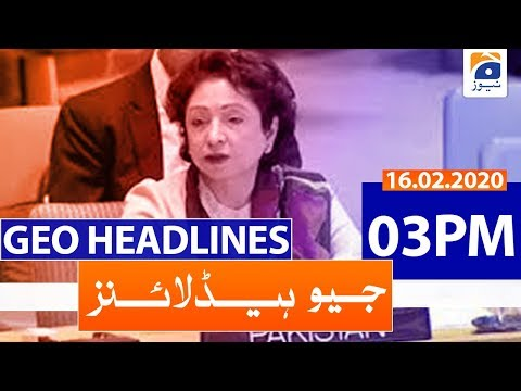 Geo Headlines 03 PM | 16th February 2020