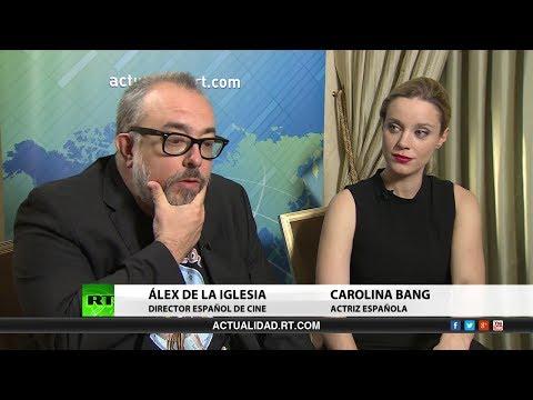 Entrevista con Álex de la Iglesia y Carolina Bang. Director de cine y actriz españoles