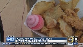 Native New Yorker debuts food truck, gives back to community