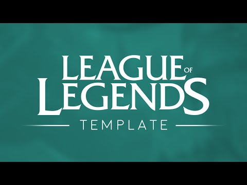 League Of Legends Logo Template 4k 2016 Youtube