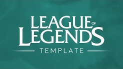 League of Legends Logo Template [4k] [2016]