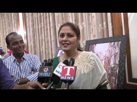 Jayasudha Indian Film Actress Inaugurates painting Collections At Taj Deccan