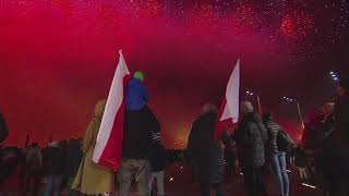 Pokaz fajerwerków na 100-lecie niepodległości Polski