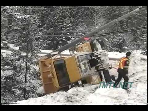 Snow Plow Truck Crash - TMTV Kootenays