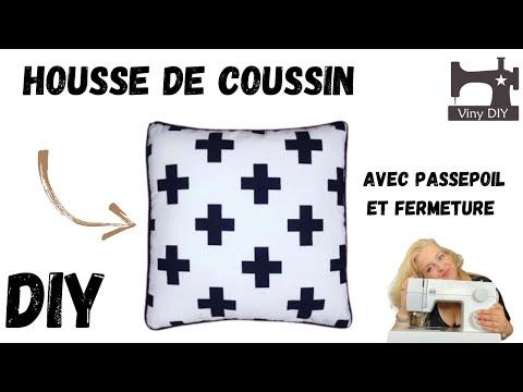 Housse De Coussin Avec Passepoil Et Fermeture Youtube