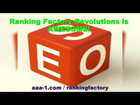 Ranking Factory Revolution is Awesome! Get Better Rankings, Indexing and Traffic Through Google