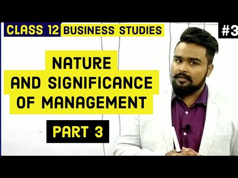 #3, Nature and levels of management (Class 12 business studies)