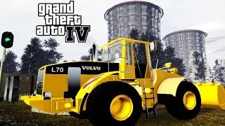 GTA 4 Volvo BM L70 Wheel Loader on Russia Map Mod + Sound Pack