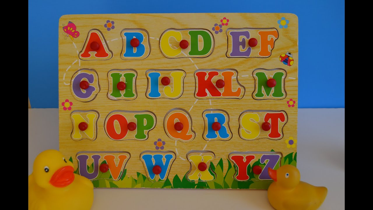 Learn ABC Letters Alphabets puzzle English for preschool children